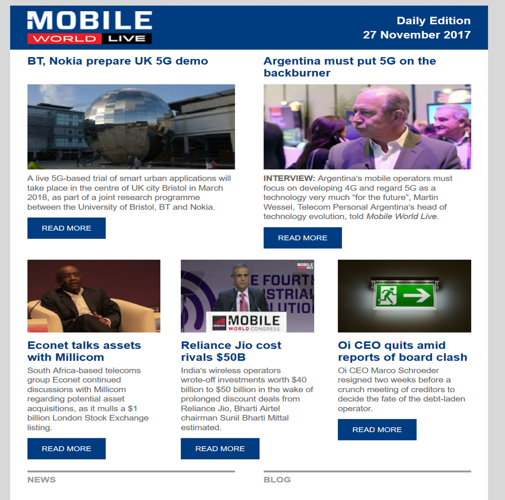 click here to view a sample of mobile world live daily newsletter