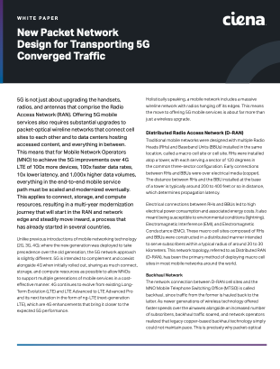 New Packet Network Design for Transporting 5G Converged Traffic