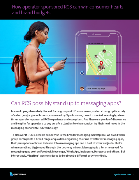 How operator-sponsored RCS can win consumer hearts and brand budgets