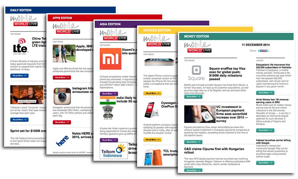Mobile World Live  Sample emails